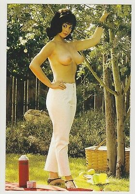 Postcard Pinup Risque Nude Stunning Girl Extremely Rare Photo Post Card 9614