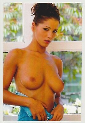 Postcard Pinup Risque Nude Stunning Girl Extremely Rare Photo Post Card 8989