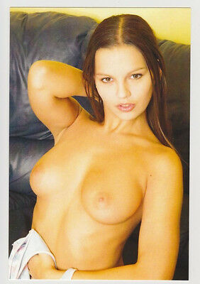 Postcard Pinup Risque Nude Stunning Girl Extremely Rare Photo Post Card 6554