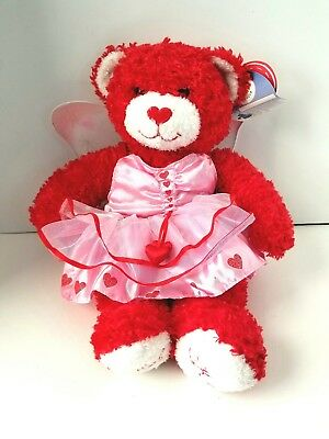 "Build-a-Bear Hugs Kisses Limited Retired 15"" Plush Valentine Butterfly Dress NEW"