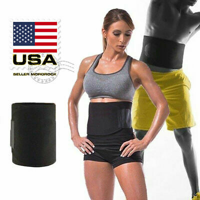 Women Men Fat Burner Waist Trimmer Belt Weight Loss Sweat Slim Wrap