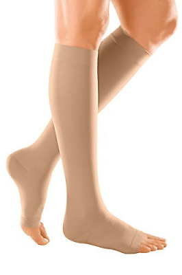 medi Duomed Soft BS CCL 2 Compression Stockings Below Knee Open Toe Beige Medium
