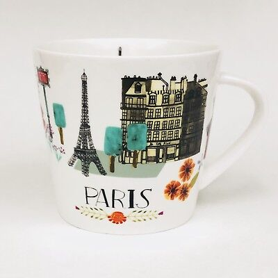 Grace's Teaware PARIS Eiffel Tower City Scenes Flat Porcelain Coffee Mug Cup