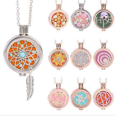 Hot Memory Locket Fragrance Essential Oil Aromatherapy Diffuser Necklace Gift