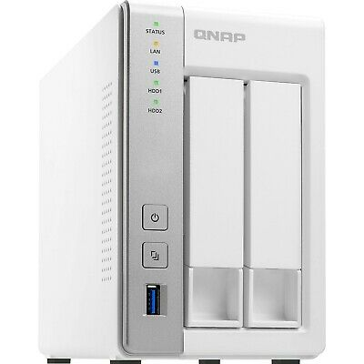 QNAP 2 Bay NAS TS-231P Dual Core 1.7GHz 0TB 1GB Network Home Storage Server