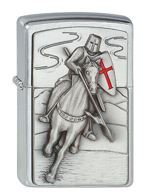 Zippo Lighter ● Crusader Attack Ritter Emblem ● 1300106 ● Neu New OVP ● A152