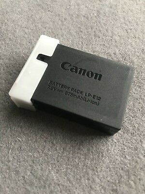 Genuine Canon LP-E12 Battery For Canon EOS 100D, EOS M, EOS M2, EOS M10