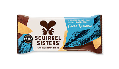 Barritas naturales Squirrel Sisters Cacao Brownie - 16 Unidades (2x20g)