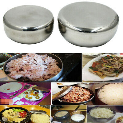 Stainless Steel Noodle Bowl With Lid Food Container Bowl Rice Bowls Soup JJ
