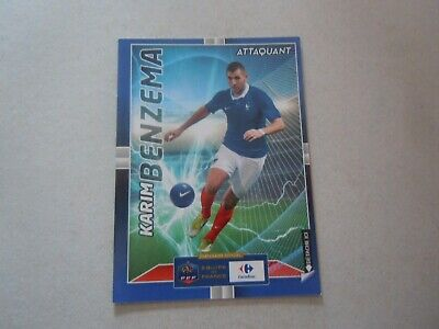 Carte adrenalyn panini - Euro 2016 - Carrefour N°17/24 - France - Karim Benzema