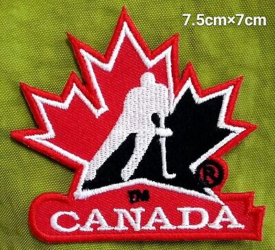 CANADA Hockey NHL Red Team Sport Logo iron,sewing,Patch,decorate on Fabrics