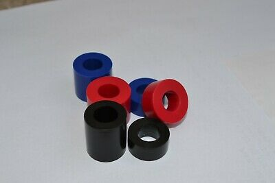 Black blue red Nylon Acetal Plastic SPACERS Standoff Washer M4 M5 M6 M8 M10 M12