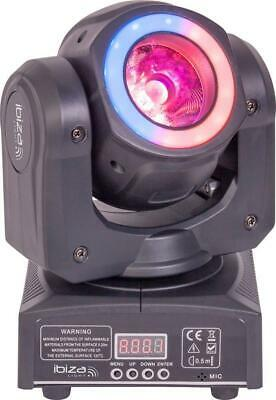 DMX 2-in-1 40W LED Moving Head with Animation Wash Ring - IBIZA LIGHT