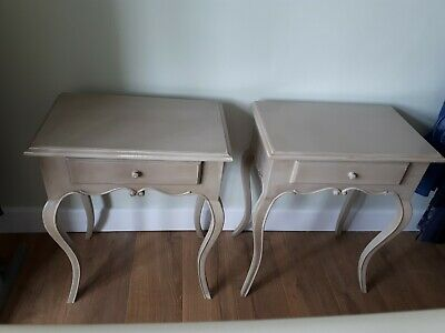 Used pair bedside cabinets beige traditional