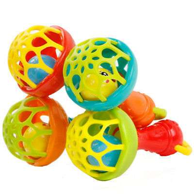 1Pc Educational Toys Baby Rattles Hand Bell Grasp Toy Kid Musical Color Random