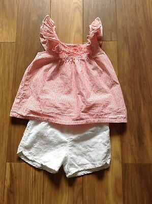 Nutmeg Girl Cotton Broderie Anglaise Shorts And Top Set 2-3 Years