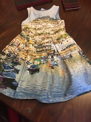 Mini Boden girls jersey St Ives harbour print dress tunic NEW blue age 1-12 year