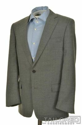 BROOKS BROTHERS Regent Solid Gray 100% Wool Mens Blazer Sport Coat Jacket - 40 S