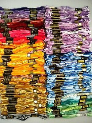 95 Skeins All Variegated DMC & JP Coats 6-Strand 100% Cotton Embroidery Floss