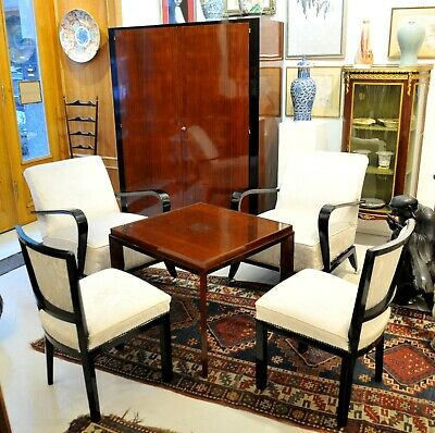Vintage stylish art deco set of living room furniture, 1920's
