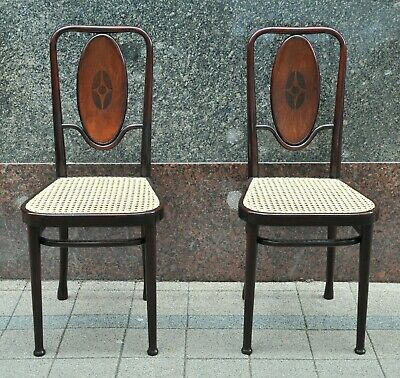 Pair of Jugendstil chairs from Marcel Kammerer, Thonet Vienna, Nr. 414