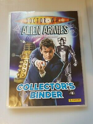 Doctor Who Alien Armies 260 Card Set + Binder + 4 Limited Edition Cards