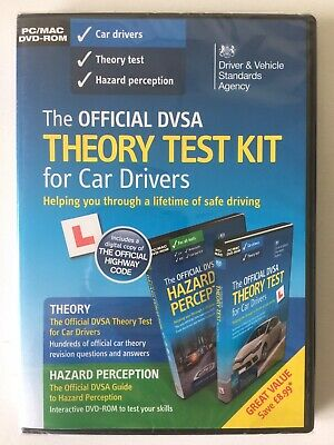 The Official Dvsa Theory Test Kit For Car Drivers + Hazard Perception Dvd- Rom