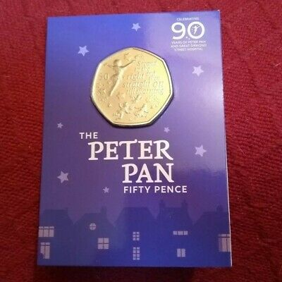 PETER PAN 50p coin, BU 2019 Isle of Man - in aid of Great Ormond Street Hospital