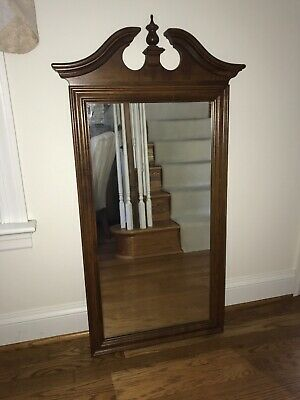 Vintage Ethan Allen Colonial Maple Mirror Antique