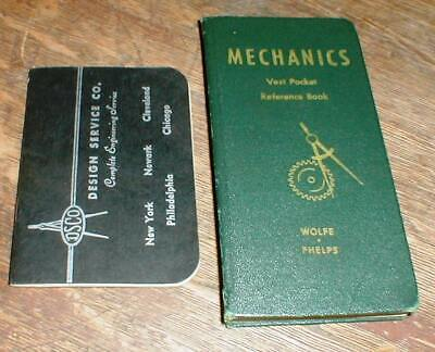1945 Vest Pocket Mechanics Reference Book & Engineer's Conversion Tables Book