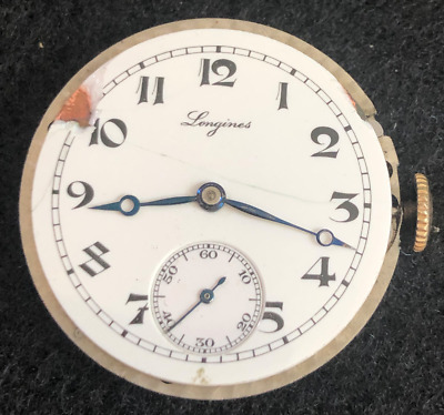 Vintage Longines Men's Trench Watch Movement Parts/Repair CW Swiss