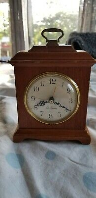 Vintage Antique Seth Thomas Mantle Desk Solid Mahogany Electric Clock works!