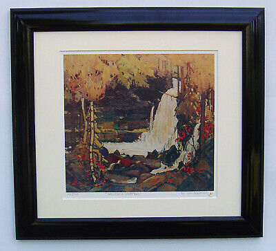 """Tom Thomson, Group of Seven """"Woodland Waterfall"""" L.E. in Black frame"""