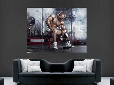 Bodybuilding Poster Weights Bodybuilder Gym Print Fitness Weightlifting Workout