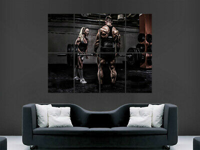 Bodybuilding Poster Weights Bodybuilder Print Fitness Weightlifting Workout Gym