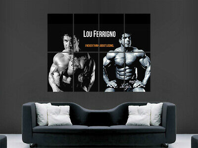 Bodybuilding Poster Lou Ferrigno Fitness Bodybuilder  Workout Weightlifting