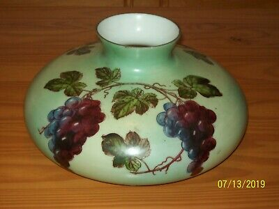 Antique Hand-Painted GWTW Oil LAMP SHADE Globe   ~  10 Inch Fitter