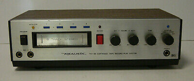 Realistic TR-80 8 Track Tape Stereo Player Recorder Vtg Tandy Radio Shack 14-942