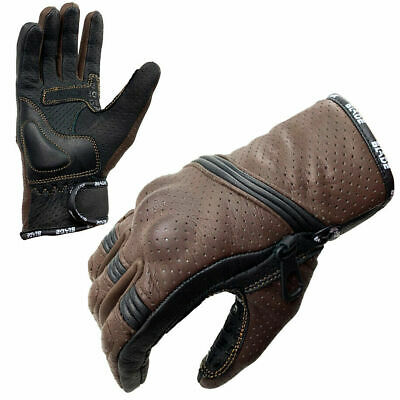 Blade® Best Summer Motorcycle Motorbike Gloves Leather Knuckle Protection Winter