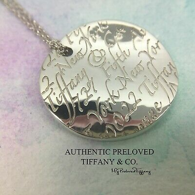 Excellent Authentic Tiffany & Co. Round Notes Necklace Silver