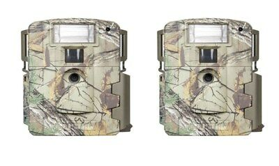 (2) New Moultrie Xenon White Flash D-80 14MP Game Trail Stealth Scouting Camera