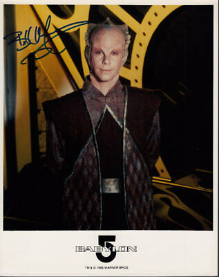 Bill Mumy SIGNED/AUTOGRAPHED Babylon 5 Promo 8x10 Photo Lennier Sci-Fi Gem 1996