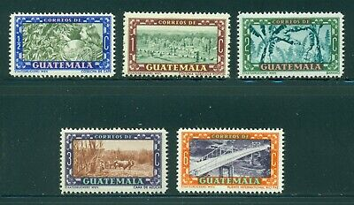 Guatemala MNH Scott #330-334 Agriculture Sugar Coffee Banana $$