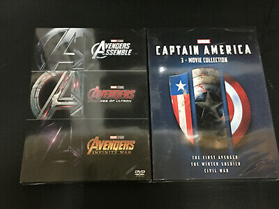 2 Marvel The Avengers 3-Movie Collection Captain America 3-Movie Collection DVD