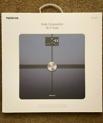 Nokia Body+ Smart Body Composition Weight BMI Wi-Fi Scale Black Withings