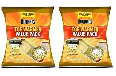 14 Pair HotHands Toe Warmers Value Pack (28 total warmers) 8 Hours Of Heat Each