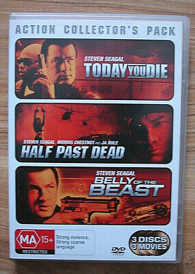 Action Collector's Pack. Starring Steven Seagal. 3 Great Movies. DVD Region 4