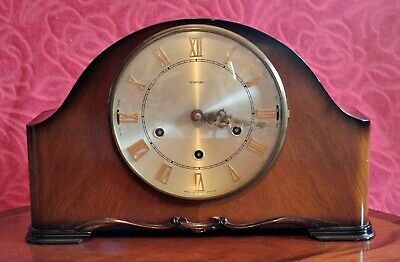 Vintage English 'Smiths' 8-Day Mantel Clock with Westminster/Whittington Chimes