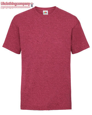 b8d4a9366622 Vintage Erica Rosso Fruit Of The Loom Valueweight Bambini Tshirt Manica  Corta