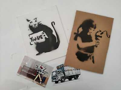 BANKSY Spray on cardboard Original Dismaland Souvenir lot stencil